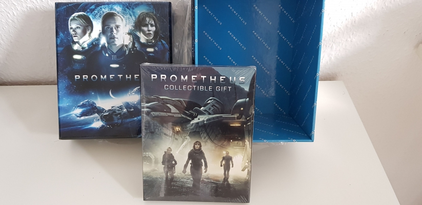 HD-Filmportal Prometheus 3D Edition 3 embossed Fullslip  FAC empty Box with Gimmick
