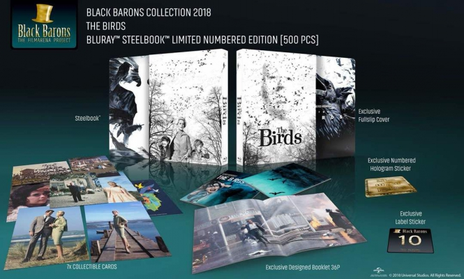 HD-FilmPortal The Birds Fullslip Steelbook Black Barons