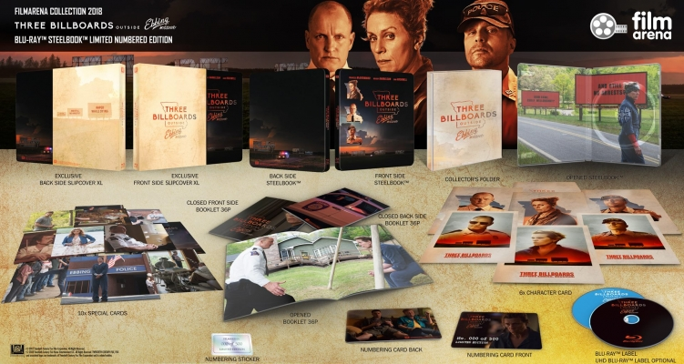 FAC 100 - 3 Billboards outside Ebbing, Missouri XL Fullslip + Lenticular Magnet - UHD - Pre-Order 15.04.18