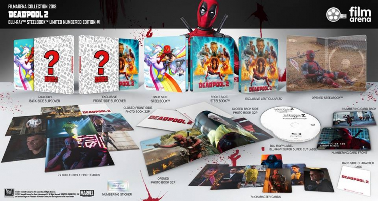 FAC 107 - Deadpool 2 - Edition 1 FullSlip Steelbook