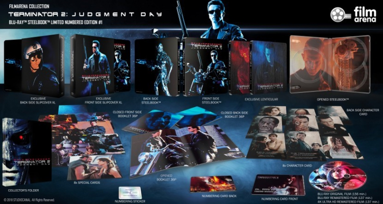 "FAC 110 - Terminator 2: Judgement Day Edition 1 - XL Fullslip Steelbook 4K + 3D + 2D ""Glow in the Dark"""