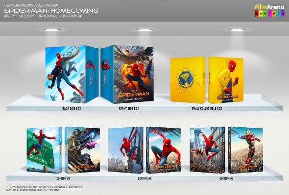 Spider-Man Homecoming 4K 3D HD-Filmportal Edition 4 Maniac Box