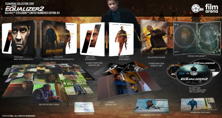 FAC 111 - The Equalizer 2 - Edition 3 - XL Lenticularslip Steelbook  UHD + 2D