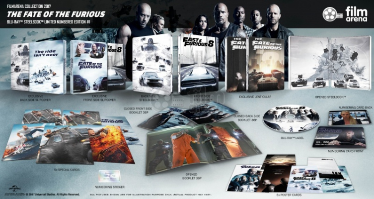 FAC 91 Fast & Furious 8: The Fate of the Furious 8 Edition 1 Fullslip + Lenticular Magnet