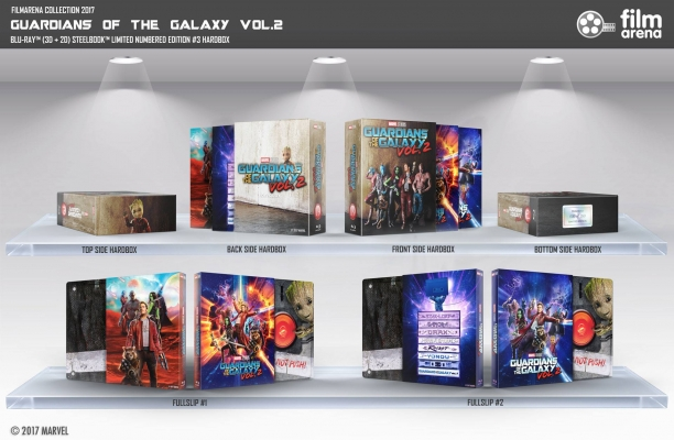Guardians of the Galaxy Vol. 2 HD-Filmportal Edition 3 Hardbox  FAC  Fullslip