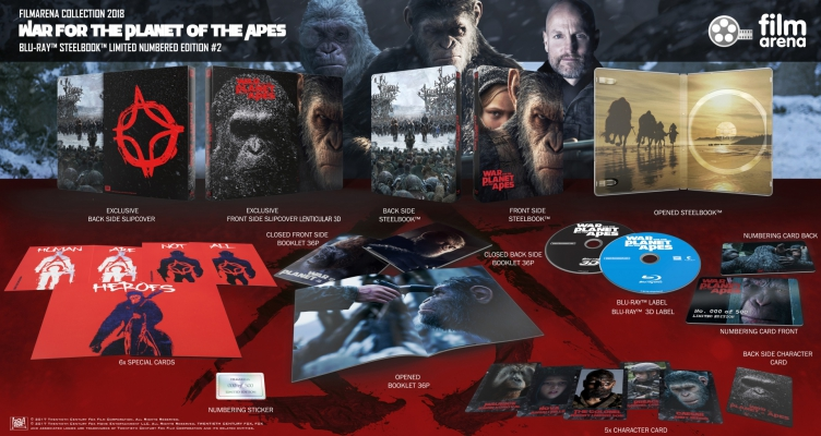 FAC 95 War for the planet of the apes - E2 Lenticularslip - 3D + 2D