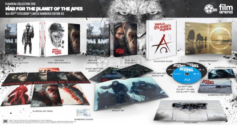 FAC 95 War for the planet of the apes - E3 XL Fullslip - 4K + 3D + 2D