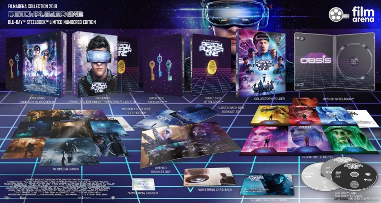 FAC 109 - Ready Player One 4K + 3D + 2D XL 3D FullSlip Steelbook