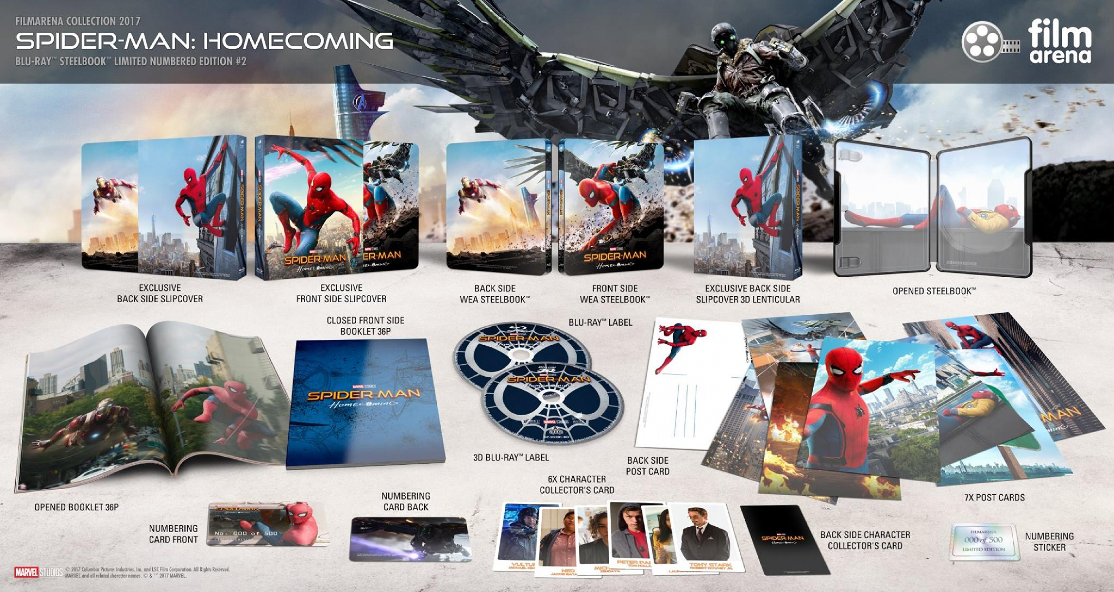 Spider-Man Homecoming 3D HD-Filmportal Edition 2 FAC Lenticularslip