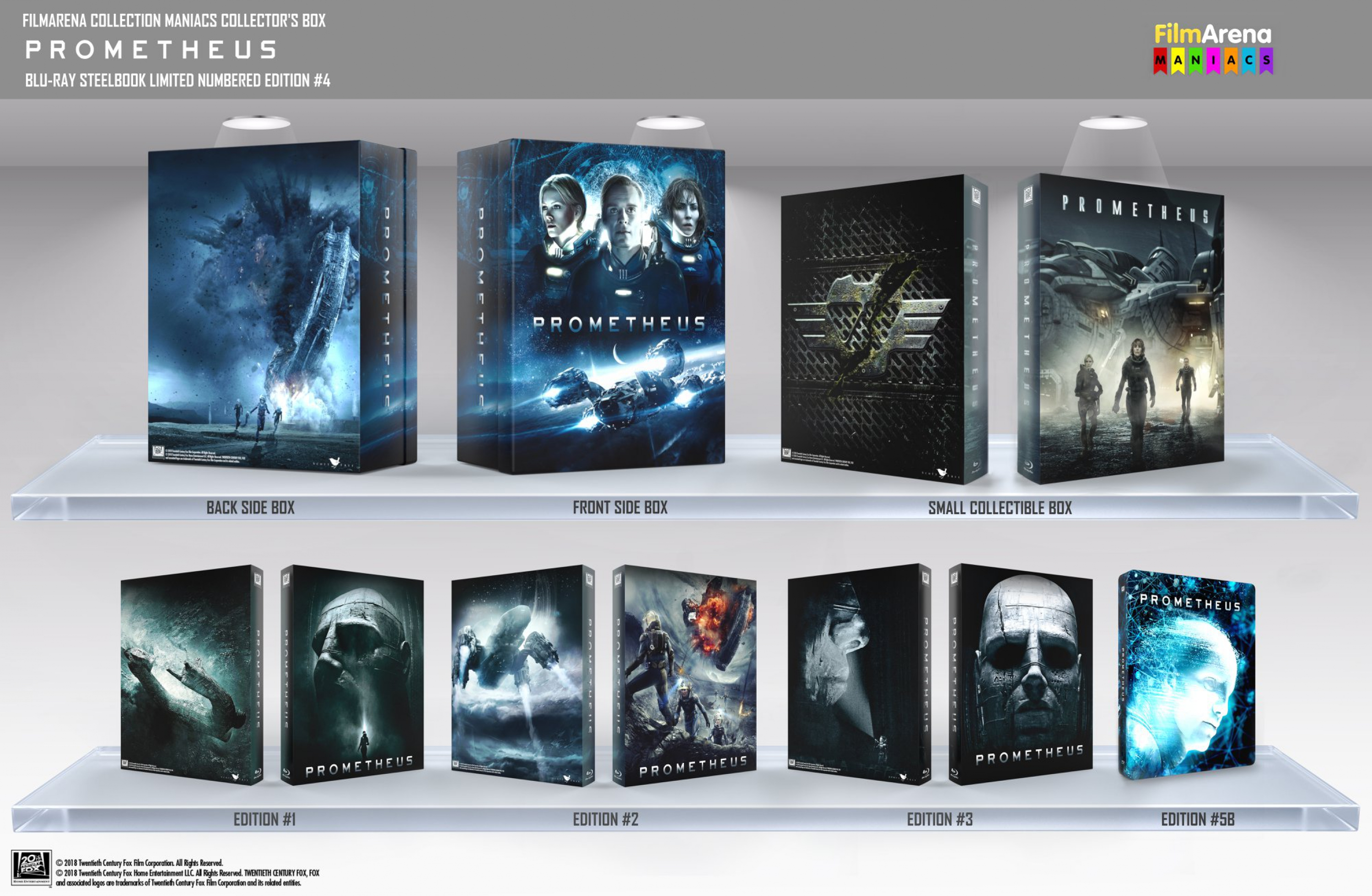 HD-Filmportal Prometheus 3D Edition 3 embossed Fullslip  FAC
